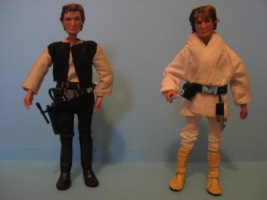 Han Solo y Luke Skywalker